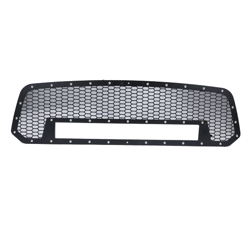 DODGE MESH GRILLE W / 20IN DUAL ROW SERIE NEGRA LED (2013-2016 RAM 1500)